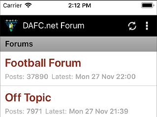 Android and iOS Forum Mobile App