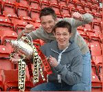 Barry and Derek with Scottish Cup