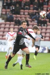 Lawrence Shankland in action. Pars v Airdrieonians 18th January 2014.