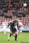 Pars v Airdrieonians 21st September 2013. Robert Thomson in action.