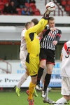 Andy Geggan v Grant Adam. Pars v Airdrieonians 18th January 2014.