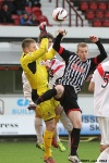 Andy Geggan in action. Pars v Airdrieonians 18th January 2014.