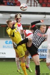 Pars v Raith Rovers (Ramsden Cup) 20th August 2013. Josh Falkingham tripped outside the box.