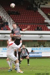 Callum Morris in action. Pars v Airdrieonians 18th January 2014.