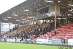 Home support in the North West Stand. Pars v Airdrieonians 18th January 2014.