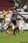 Lawrence Shankland v Ross Gilmour. Pars v Airdrieonians 18th January 2014.