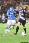 Pars v The Rangers 30th December 2013. Jordan Moore v Sebastien Faure.