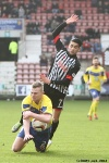 Pars v Stenhousemuir 8th March 2014. Faissal El Bakhtaoui v Nicholas Devlin (1 of 2).