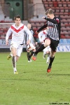 Jordan Moore in action. Pars v Airdrieonians 18th January 2014.