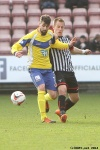 Pars v Stenhousemuir 8th March 2014. Andy Geggan v Darren Smith.