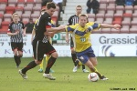 Pars v Stenhousemuir 8th March 2014. Ross Forbes v Bryan Hodge.