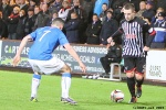 Pars v The Rangers 30th December 2013. Ryan Wallace v Fraser Aird.