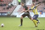 Pars v Stenhousemuir 8th March 2014. Stephen Husband v Bryan Hodge.