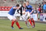 Ryan Thomson v John Armstrong. Pars v Cowdenbeath 20th April 2013.