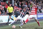 Pars v Hamilton Academical 6th April 2013. Alan Smith v Stephen Hendrie.