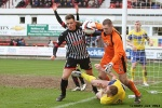 Pars v Stenhousemuir 8th March 2014. Lawrence Shankland v Chris Smith and Stewart Greacen (1 of 2).