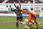 Pars v Stenhousemuir 8th March 2014. Lawrence Shankland v Chris Smith and Stewart Greacen (2 of 2).
