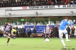 Pars v The Rangers 30th December 2013. Josh Falkinghams effort goes narrowly wide.