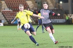 Pars v Arbroath 25th February 2014. Lawrence Shankland v Michael Travis.