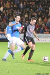Pars v The Rangers 30th December 2013. Stephen Husband in action.