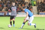 Pars v The Rangers 30th December 2013. Shaun Byrne v Lee Wallace.