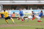 Josh Falkingham in action. Pars v Cowdenbeath 20th April 2013.