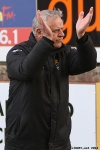 Pars v Stenhousemuir 8th March 2014. Jim Jeffries applauding the home support.