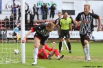 Pars v Stranraer 31st August 2013. Andy Geggan celebrates with Robert Thomson! (1 of 2)