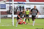 Pars v Stranraer 31st August 2013. Andy Geggan celebrates with Robert Thomson! (2 of 2)