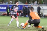Pars v Arbroath 25th February 2014. Faissal El Bakhtaoui v Sandy Wood.