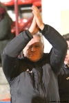 Pars v Arbroath 25th February 2014. Jim Jeffries applauding the supporters.