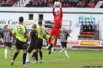 Pars v Stranraer 31st August 2013. David Mitchell makes another save.