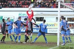 Pars v Stranraer 11th January 2014. Pars attacking the Stranraer goal.