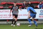 Pars v Stranraer 31st August 2013. Ryan Wallace has a shot on goal.
