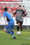 Pars v Stranraer 11th January 2014. Ryan Wallace v Mark Docherty.