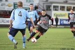 Pars v Forfar Athletic 7th December 2013. Ryan Wallace in action.