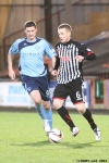 Pars v Forfar Athletic 7th December 2013. Andy Geggan v Chris Templeman.