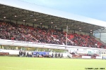 Pars v Forfar Athletic 7th December 2013. Home Support in the Main Stand.