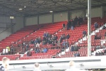 Pars v Forfar Athletic 7th December 2013. Away Support in the Main Stand.