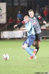 Pars v Forfar Athletic 7th December 2013. Stephen Husband in action.