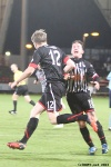 Pars v Forfar Athletic 7th December 2013. Jordan Moore celebrates!