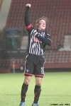 Pars v Forfar Athletic 7th December 2013. Josh Falkingham celebrates!
