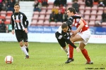 Pars v Hamilton Academical 2nd February 2013. Ryan Wallace v Martin Canning.