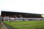 Pars v Hamilton Academical 2nd February 2013. Main Stand away and home support.