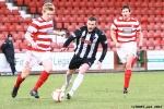 Pars v Hamilton Academical 2nd February 2013. Andy Kirk in action.