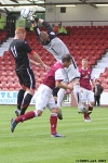Pars v Arbroath 17th August 2013. Ryan Thomson v Scott Morrison.