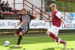 Pars v Arbroath 17th August 2013. Ryan Wallace. v Michael Travis.