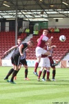 Pars v Arbroath 17th August 2013. Callum Morris scores to make it 1-1.