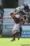 Pars v Arbroath 17th August 2013. Kerr Young v Alan Cook.