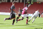 Pars v Arbroath 17th August 2013. Shaun Byrne scores his first goal for the Pars!